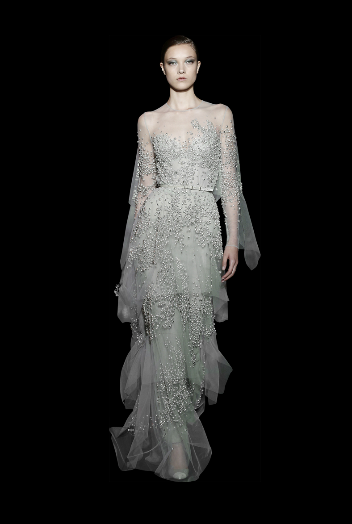 Elie saab fall winter 2014 15 haute couture perfect for for Elie saab blush wedding dress